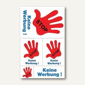 Hinweis-Etiketten STOP-Keine Werbung!