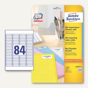 Zweckform Mini-Organisationsetiketten, 46 x 11.1 mm, 2.100 Stück, L7656-25