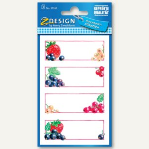 Einmachetiketten Erdbeere & Johannisbeere