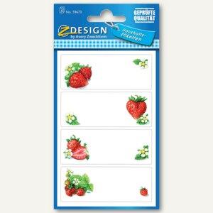"""Zweckform Einmachetiketten """"Erdbeeren"""", 12 Stück, 59673"""