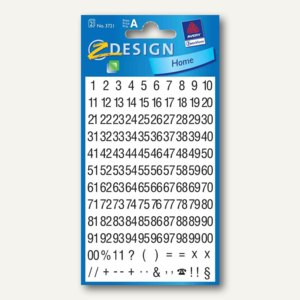 Artikelbild: Z-Design Zahlen-Sticker