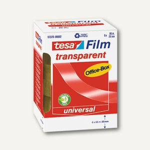 Tesa Film transparent, 66 m x 25 mm, (Ø)76 mm, 6er-Box, 57379-00002