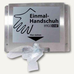 Spenderhalter für PE-Einweghandschuhe, zur Wandbefestigung, Edelstahl, 88933