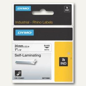 Dymo Rhino Etikettenband, 24 mm x 5.5 m, Vinyl, schwarz/weiß, S0773860