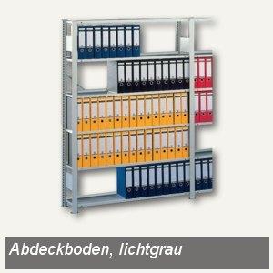 Meta Abdeckboden Steckregal Compact, 125x30cm, 4 Fachbodenträger,lichtgrau,95861