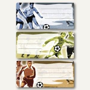 """Herma Buchetiketten """"Fußball"""", 76 x 35 mm, 90 Stück, 5598"""