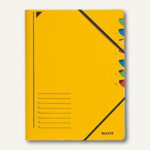 LEITZ Ordnungsmappe DIN A4, Fächer 1-7, gelb, 39070015