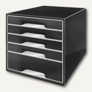 Schubladenbox WOW CUBE, 5 Schübe, 323x315x397mm, schwarz/schwarz, 5253-00-95
