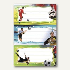 """Herma Buchetiketten Vario """"Fußball"""", 76 x 35 mm, beglimmert, 6 Stück, 5588"""