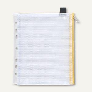 Mehrzweck-Reißverschluss-Beutel, DIN A5, gelb, mit Abheftrand, 10 St., 40448-60