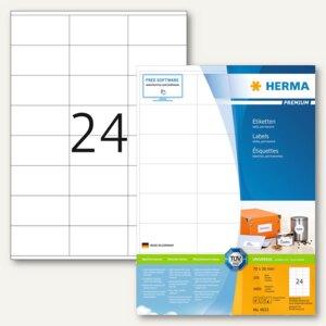 """Herma Etiketten """"PREMIUM"""", DIN A4, 70 x 36 mm, weiß, 4.800 St., 4633"""