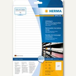 Herma Etiketten Movables, DIN A4, 192x10mm, weiß, 675 Stück, 10022