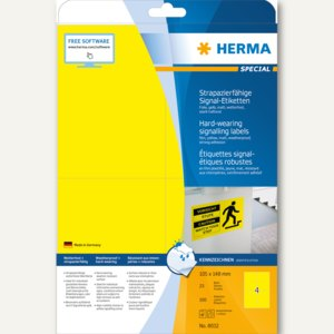 "Signal-Etiketten ""SPECIAL"", 105 x 148 mm, wetterfest, Rand, gelb, 100St., 8032"