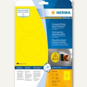 """Herma Signal-Etiketten """"SPECIAL"""", Ø 85 mm, wetterfest, Rand, gelb, 150 St., 8035"""