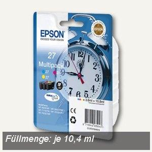 Epson Tintenpatronen 27XL, Multipack, CMY, 3 Patronen, C13T27154010