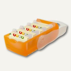 HAN Lernkartei CROCO, DIN A7, 5 Stützen und 100 Karten, orange, 997-613
