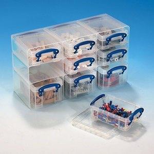Aufbewahrungsbox 0.3 & 0.2 Liter, 9 Fächer, B 285 x H 165 x T 105 mm, transp., 0