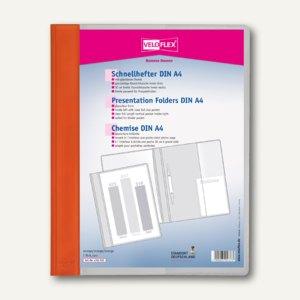 Veloflex Schnellhefter VELOFORM®, A4, PVC, glasklar/orange, 10 Stück, 4741030