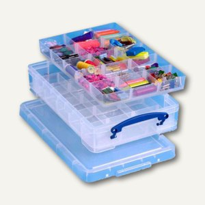 Aufbewahrungsbox 4 Liter, 395 x 255 x 88 mm, PP, 2 Einsätze, transp., 4CDI2HOB(P