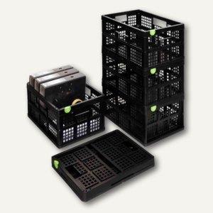 Really Useful Box Klappbox 32 Liter, 475 x 345 x 235 mm, PP, schwarz, 32FBK5PK