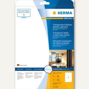 "Herma Folien-Etiketten ""SPECIAL"", 210 x 297 mm, transparent, 25St., 8020"