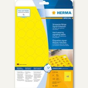 """Herma Signal-Etiketten """"SPECIAL"""", Ø 30 mm, wetterf., Rand, gelb, 1.200 St., 8034"""