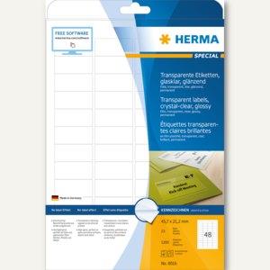 "Herma Folien-Etiketten ""SPECIAL"", 45.7 x 21.2 mm, transparent, 1.200St., 8016"