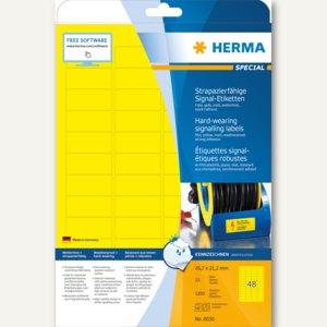 "Signal-Etiketten ""SPECIAL"", 45.7 x 21.2 mm, wetterfest, Rand, gelb, 1.200St., 80"