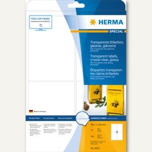 "Herma Folien-Etiketten ""SPECIAL"", 99.1 x 139 mm, transparent, 100St., 8019"