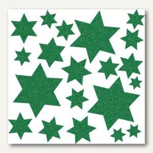 Fensterbild - Sterne grün