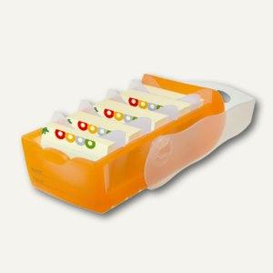 HAN Lernkartei CROCO, DIN A8, 5 Stützen und 100 Karten, orange, 998-613