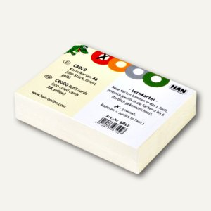 HAN Karteikarten CROCO 2-6-19, DIN A8, liniert, gelb, 100 Stück, 9811