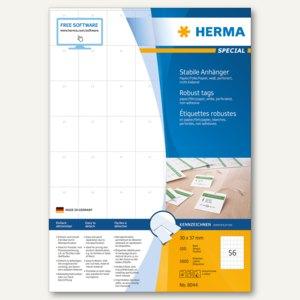 Herma Textilanhänger, Papier/Folie, 37 x 30 mm, bedruckbar, weiß, 5.600St., 8044
