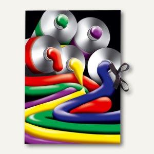"""RNK Zeichenmappe """"Painting"""", DIN A2, Karton, mit Band, 440x620mm, bunt, 4598"""