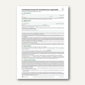 """RNK Anstellungsvertrag """"kaufmännische Angestellte"""", 2-seitig, 100 Stück, 501"""