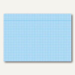 RNK Karteikarte, DIN A5, kariert, graue Kopflinie, blau, 100St., 114854