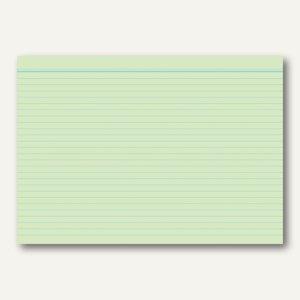 RNK Karteikarte, DIN A8, liniert, blaue Kopflinie, grün, 100St., 115085