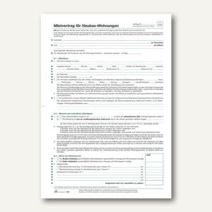 Artikelbild: Mietvertrag Neubauwohnung