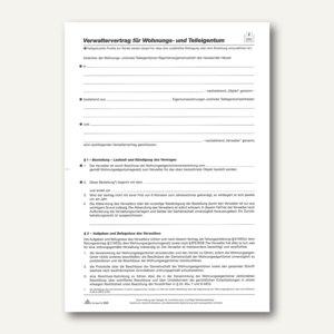 RNK Verwaltervertrag Wohnungseigentum, DIN A4, 4-seitig, 10 stück, 533