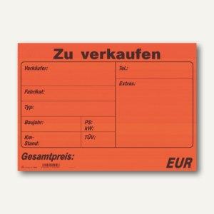 """RNK Plakatheft Kfz """"Zu verkaufen"""", 340 x 240 mm, Block mit 10 Blatt, 1545"""
