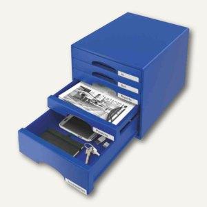 Schubladenbox Plus mit 5 Schüben, DIN A4 Maxi, 323x397x315, blau, 5211-00-35