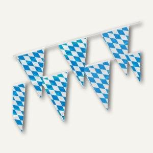 """Papstar Wimpelkette """"Bayrisch Blau"""", Folie, (L)4 m, wetterfest, 10 Stück, 18747"""