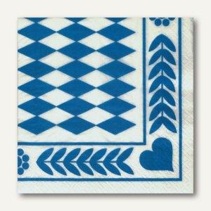 """Motivservietten, 3-lagig, 1/4-Falz, 33 x 33 cm, """"Bayrisch Blau"""", 300 St., 12901"""