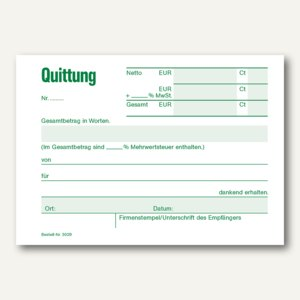 Quittungsblock
