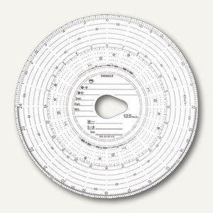RNK Tachoscheibe Kienzle, Kombi, 125 km/h, Durchmesser: 12cm, 100Blatt, 3091
