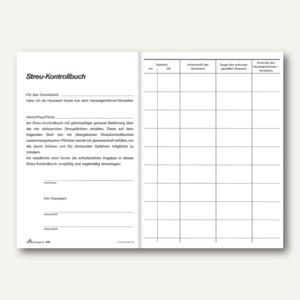 RNK Streu-Kontrollbuch/Winterglätte, DIN A5, 24 Seiten, kartoniert, 565