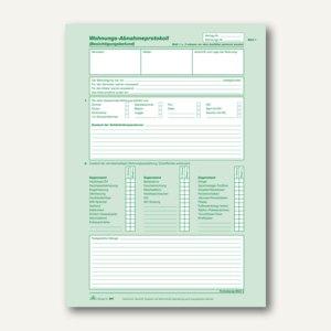 RNK Wohnungs-Abnahmeprotokoll, A4, selbstdurchschreibend, 2x2 Blatt, 10St., 981