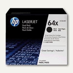 HP Toner Nr. 64X, schwarz, Doppelpack, CC364XD