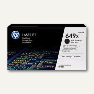HP Lasertoner 649X, ca. 17.000 Seiten, schwarz, Doppelpack, CE260XD