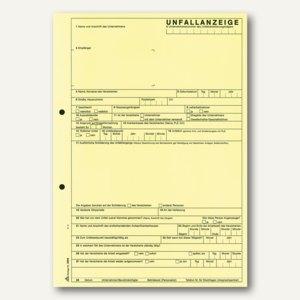 RNK Unfallanzeige Gewerbebetriebe, DIN A4, selbstdurchschreib., 5Bl., 25St.,2865